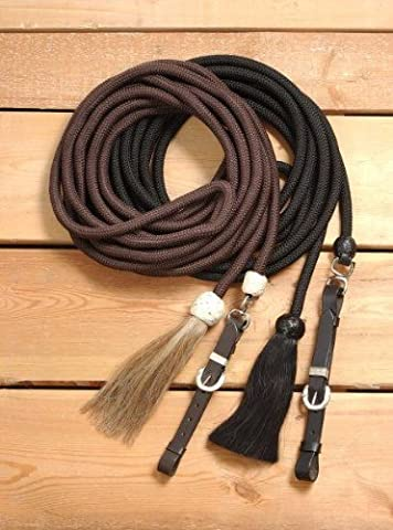 Tough 1 Royal King Braided Mecate Rope Lunge Line, Brown by Tough 1