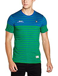 Fila Mens Round Neck Cotton T-Shirt (8907302106411_12004181_XL_Ever Green)