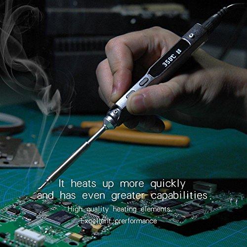 Rokoo 828/5000 Schnelle Heizung programmierbare Pocket-Größe Smart Mini Outdoor-DC-Netzteil tragbare elektrische Lötkolben Löten (Butan Mini-heizung)