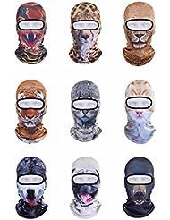 vertast pasamontañas cara máscara, 2017Nuevo diseño 3d animal activo Full Face máscara para esquí ciclismo motocicleta casco liner senderismo Camping calentador de cuello, oso