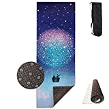FGRYGF Turkish Starry Hot Air Balloon Yoga Mat - Estera de Yoga - Non-Slip Lining - Easy to Clean - Latex-Free - Lightweight and Durable - Long 180 Width 61cm