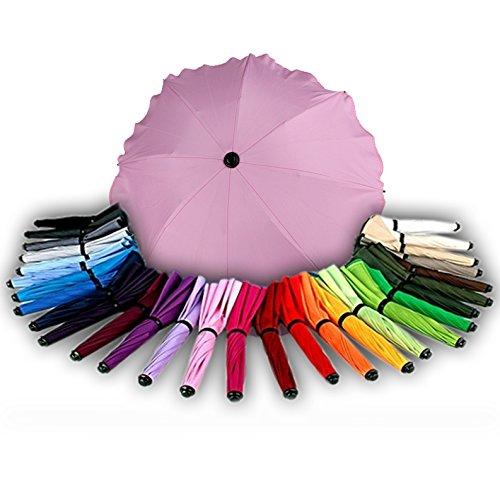 BAMBINIWELT Sonnenschirm für Kinderwagen Ø68cm UV-Schutz50+ Schirm Sonnensegel Sonnenschutz (Rosa)