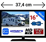 "TV TNT HD LED 15,6"" 39CM TNTHD USB - Neuf + Garantie - pour Camion Fourgon Camping Car 24 12 Volts 14W..."