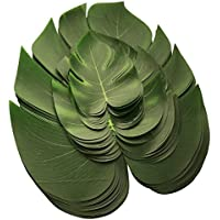 36piezas hojas artificiales de Monstera, hojas falsas, verdes, para decoración de fiesta, noche (12 piezas Grandes + 12 piezas Medianas + 12 piezas pequeñas)
