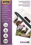 Fellowes 5440602 Pochettes de Plastification Brillantes 80 Microns 10x15 cm Format Photo - Paquet de 25