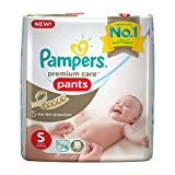 #6: Pampers Premium Care Diapers Pants, Small (74 Count)