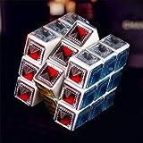 JIAHE Cubo de Cristal de Colores, Juguetes educativos Cubo de Tercer Orden 3X3X3 Cubos Lisos de Tercer Orden, Competición Escolares Escolares Juguetes [Clase de eficiencia energética A]