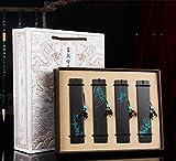 flashing lights- Mahagoni Ebenholz Holz Lesezeichen Chinesische Stil mit Quasten Kreative Klassische Lesezeichen Retro Geschenk (x4) ( Farbe : C )