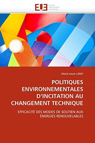 Politiques environnementales d''incitation au changement technique