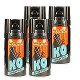 KO Spray 007 CS-GAS PARALISANT 4x im Set zur Selbstverteidigung 40ml BKA zugelassen Verteidigungsspray