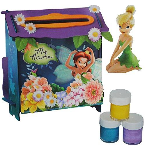 """Bastelset - \"""" Disney - Fairy - Tinkerbell \"""" - für einen Briefkasten - zum malen Malset - Disney Fairies Princess Mädchen - zum Basteln bemalen & bekleben / Schmetterlinge Tinker Bell - Tinkerbell"""