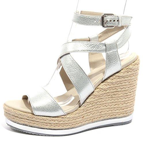 B1236 zeppa donna HOGAN scarpa sandalo argento yuta shoes women [36.5]