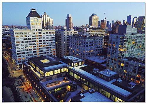 Panorama® Cuadro Cartón Pluma Vista Aérea Edificios