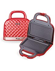 Rico Sandwich Toaster and Grill 750 Watt Red