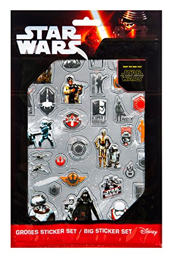 Undercover SWMK7293 Kindergartentasche, Star Wars, ca. 21 x 22 x 8 cm Großes Sticker Set