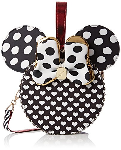 Irregular Choice Womens Oh My! Bag Top-Handle Bag Black (Black/White)