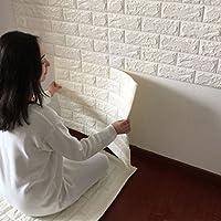 STRIR 1PCS Pegatina de Azulejos Ladrillo 60 * 60cm Más espeso 3D Pegatina de Pared Autoadhesivo Panel Pared Impermeable PE Espuma Decoración de pared
