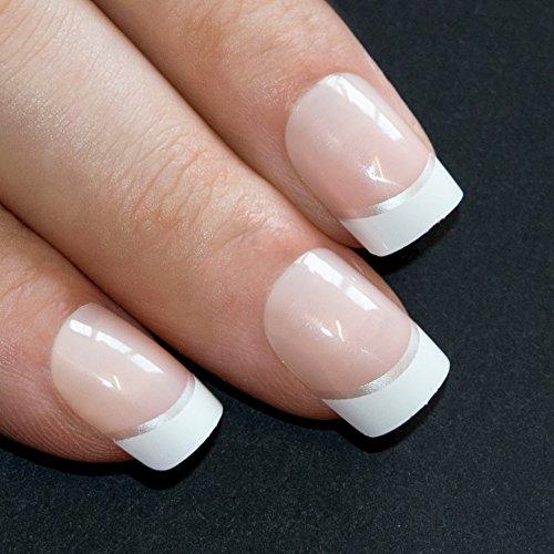 bling-art-false-nails-franzosisch-manikure-weiss-manicurette-24-medium-tipps-uk