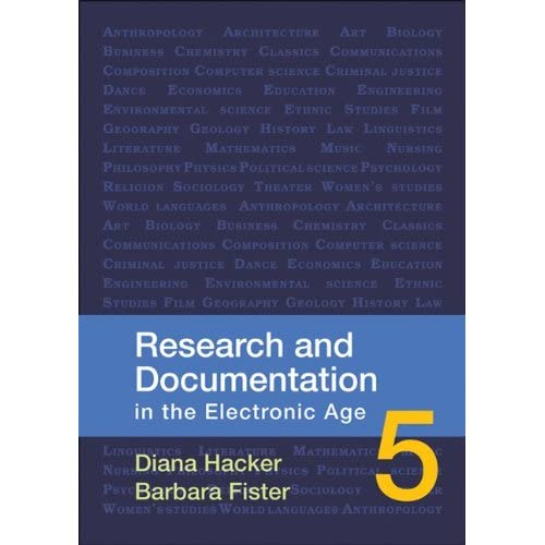 Research and Documentation in the Electronic Age by Diana Hacker (2010-04-26)