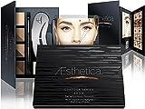 Aesthetica Cosmetics Augenbrauen Kontur Kit - 15-teilige Augenbrauen Makeup Palette - Enthält Puder