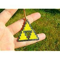 Porte-clés Triforce provenant de The Legend of Zelda - LoZ - Ocarina of Time Twillight Princess • Hama Beads • Pixel/art • Perler