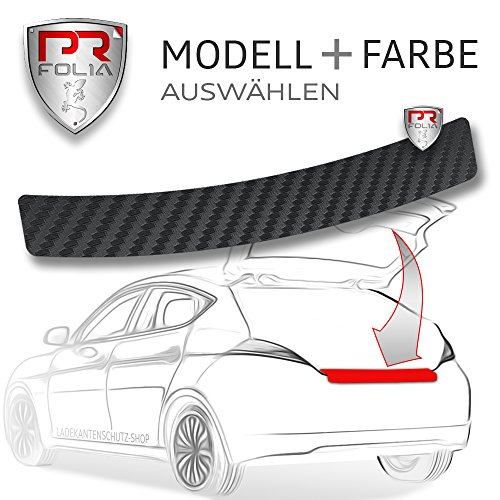 PR Folia Ladekantenschutz - Lackschutzfolie Ladekantenschutz in 3D Carbon schwarz -