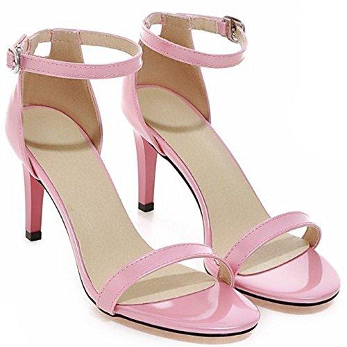 Di A Strappy Modo Cinturino Alla Caviglia Sandali Scarpe Punta A Donne Rosa Aperta Colore Spillo Coolcept Oq8Y8xp