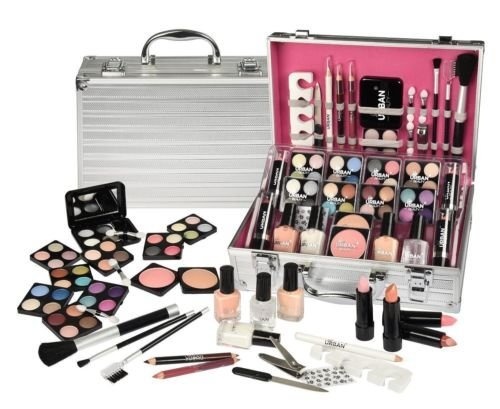 74 PIECE MAKEUP VANITY CASE COSMETIC SET MAKE UP BEAUTY STORAGE BOX GIFT XMAS