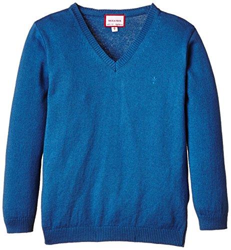 neck-neck-carling-pullover-a-maglia-basic-bambina-medium-blue-azul-medio-22-4-anni
