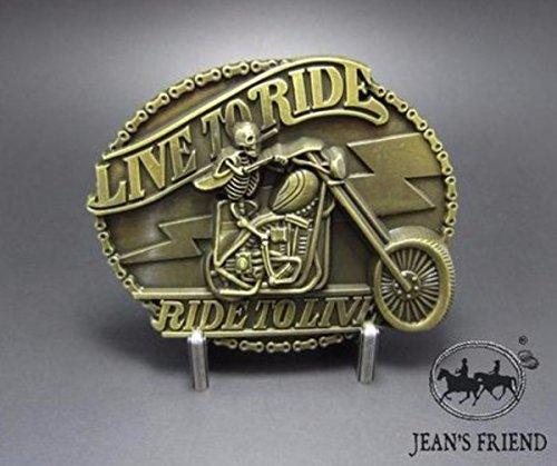 napolo Western Buckle Belt Cowboy gurtelschnallen New Motorrad- Gold live to Ride