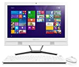 Lenovo C40 21.5-Inch HD All-in-One Desktop PC (Intel Core i3-4005U 1.7 GHz, 8 GB RAM, 1 TB HDD, DVD-RW, WLAN, Bluetooth, Camera, Integrated Graphics) - White with Free Windows 10 Upgrade