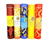 Bermoni Butaneses Aromático Incienso Tibetano de meditación Joss-Pack de 5 Incienso meditación (FH-INS-1032MIX2)