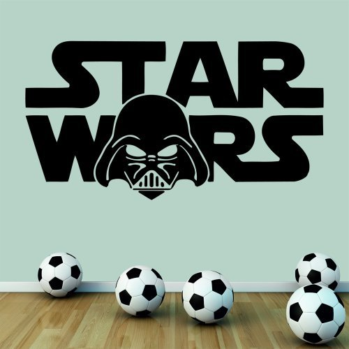 Wondrous-Wall-Art-Adhesivo-decorativo-para-pared-tamao-mediano-diseo-con-frase-de-Star-Wars-en-ingls