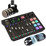 Rode Rodecaster Pro All-in-One Podcast Station - Estación de sonido (incluye micrófono Podmic y cable XLR de 6 m)