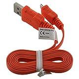 Highspeed Micro USB 2.0 Flachkabel Ladekabel Datenkabel für Datenübertragung für Bose Soundlink Mini (USB-A Stecker an Micro-B Stecker)