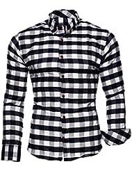 KAYHAN Herren Hemd Slim Fit Bügelleicht, Super Modern super Qualität Kariert Modell Chicago