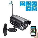 Outdoor IP Kamera 720P HD WLAN Überwachungskamera Aussen Wireless Sicherheitskamera mit Bewegungserkennung,Zwei-Wege-Audio,20m Infrarot Nachtsicht und IP-66 Outdoor Wasserdicht Netzwerkkamera Kompatibel mit Smartphones, Tablets und Windows PC-Schwarz