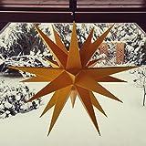 Adventsstern, Weihnachtsstern, Aussenstern, Außenstern, wetterfest, knapp 60cm, gelb