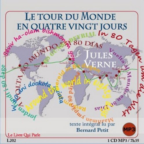 Le Tour du Monde en 80 Jours  1 CD MP3  / 21 E par Verne