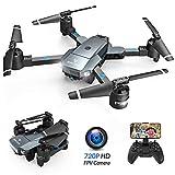 SNAPTAIN Drohne mit Kamera A15H 720P HD Kamera Live Übertragung/WiFi FPV Quadrocopter/Gravitationssensor/Sprachsteuerung/Flugbahnflug/Kopflos-Modus, Höhe-Halten/App Steuern Drohne für Anfänger/APP