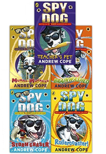 Spy Dog Series 2 Andrew Cope Collection 5 Books Set (Teachers Pet, Rollercoaster, Brainwashed, Storm Chaser, Mummy Madness) by Andrew Cope (2016-11-09) par Andrew Cope