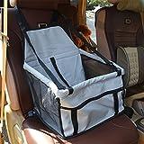 Auto Safety Sitzerhöhung Travel Tasche Cage Matte Cover Kissen mit Sicherheit Sicherheitsgurt Geschirr für Haustier Hund Puppy Katze grau
