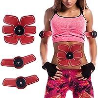 Weijin Electroestimulador Muscular Abdominales, Masajeador Eléctrico Cinturón EMS Ejercitador del Cuerpo de los Músculos de Brazos y piernas, con 6 modos 9 Niveles de Intensidad