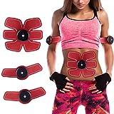 Weijin Elektrischer Muskelstimulation EMS TrainingSgerät Fitness Bauch Massagegürtel Elektrostimulation Fettverbrennung Massage-gerät mit 6 Modi und 9 Intensität eingestellt