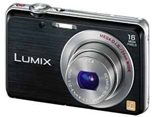 Panasonic Lumix DMC-FS45EG-K Digitalkamera (16 Megapixel, 5-fach opt. Zoom, 7 cm (2,9 Zoll) Display, 24mm Weitwinkel, HD-Video, bildstabilisiert) schwarz