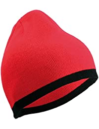 CONTRAST BEANIE TWO TONE BEANY HAT CAP - 14 GREAT COLOURS