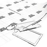 Schlüsselanhänger zum selber machen Sets 50 x 30 mm (10 Stk.) inkl. Druckbögen zum selbst gestalten mit Foto, Namen, Bild -