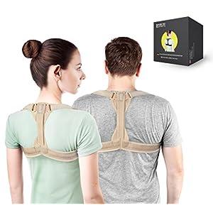 Modetro Sports Geradehalter zur Haltungskorrektur inkl. eBook für eine Gesunde Haltung, ideal zur Therapie für haltungsbedingte Nacken, Rücken und Schulterschmerzen Damen Herren