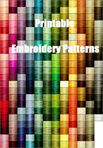 Printable Embroidery Designs (English Edition)