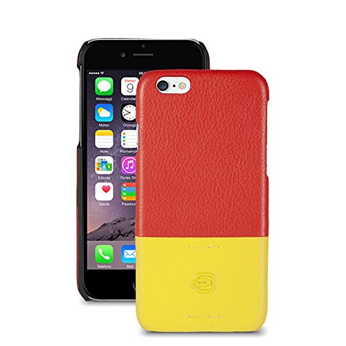 Piquadro AC3353P15/RG Custodia iPhone, Linea Pulse, Rosso/Giallo, 14 cm